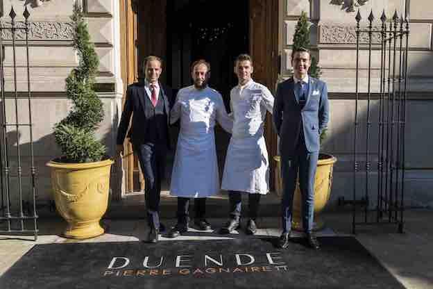 Gabriel Lonca, Nicolas Fontaine, Julien Caligo et Logan Thouillez. ©Marco Strullu / Maison Albar Hotels © DR