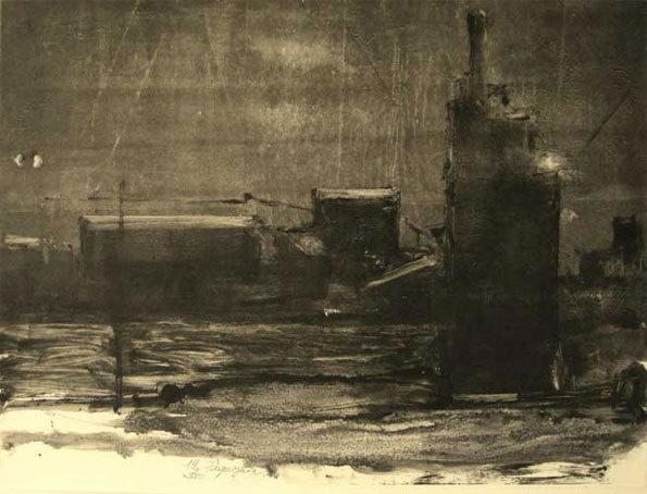 Didier Paquignon, Elbasan la nuit, 30,8 x 41, cm