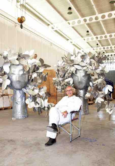 Manolo Valdès, dans son atelier à Madrid, Espagne © Enrique Palacio