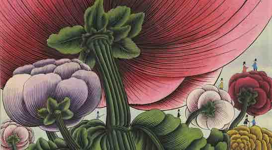 Dessin pour C'est le Bouquet, ouvrage de Claude Roy illustré par Alain Le Foll, paru chez Delpire en 1964 Dessin à l'encre 28,2 x 33,8 cm - Collection particulière