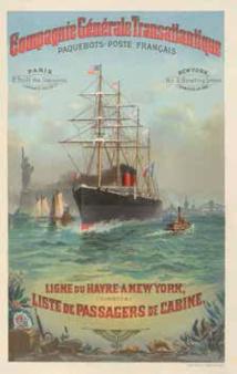 Transatlantiques  l'épopée graphique des paquebots de légende du 19 avril au 1er octobre 2013 au Musée de l'Imprimerie  de Lyon
