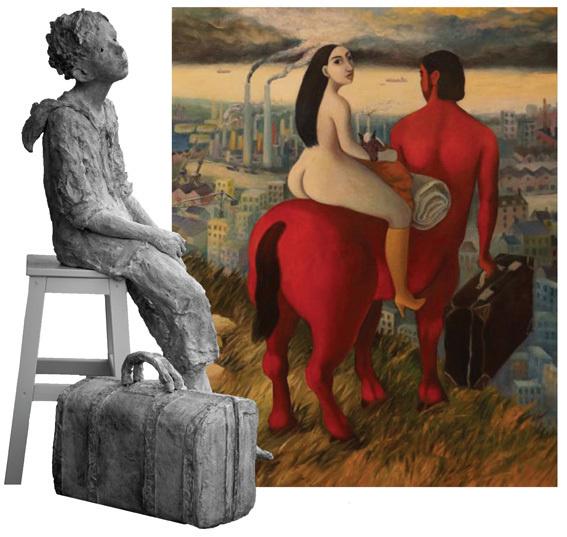 Bénédicte Devillers, peintre et Jurga, sculpteur, Galerie Art-Culture-France, Caen, du 2 au 29 mai 2013