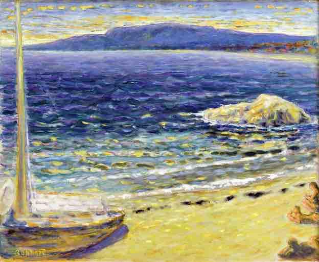 Pierre Bonnard Marine, vers 1910 huile sur toile, 49,8 x 61,2 cm Toulouse, Fondation Bemberg photo © RMN-Grand Palais | Fondation Bemberg | Mathieu Rabeau