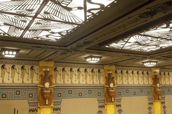 Le plafond de la salle Youssef Chahine © DR