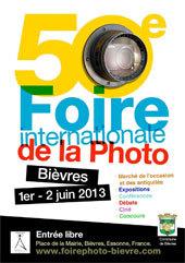 50e Foire Internationale de la photo à Bièvres, 1 et 2 juin 2013