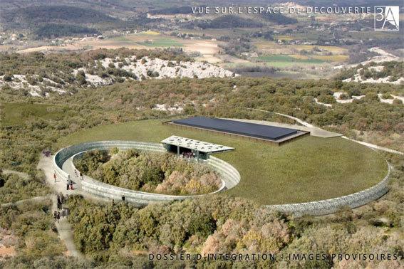 Le Centre de découverte – Insertions paysagères provisoires. © Agences Fabre@Speller - Atelier 3A