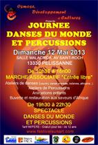 Journée danses du monde et percussions, à Pélissanne (13330), le 12 mai 2013