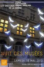 Nuit des Musées dans les Châteaux de la Drôme samedi 18 mai de 19h30 à 23h30