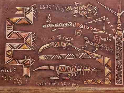 Tïtunkai (Déforestation) – détail par Ti'iwan Couchili (1972-), Teko-Wayana, Guyane, 2020 © MEG, Johnathan Watts