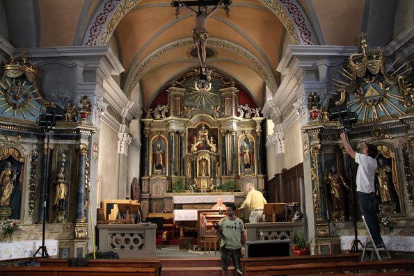 Chœur de l'église baroque des Contamines-Montjoie © Pierre Aimar