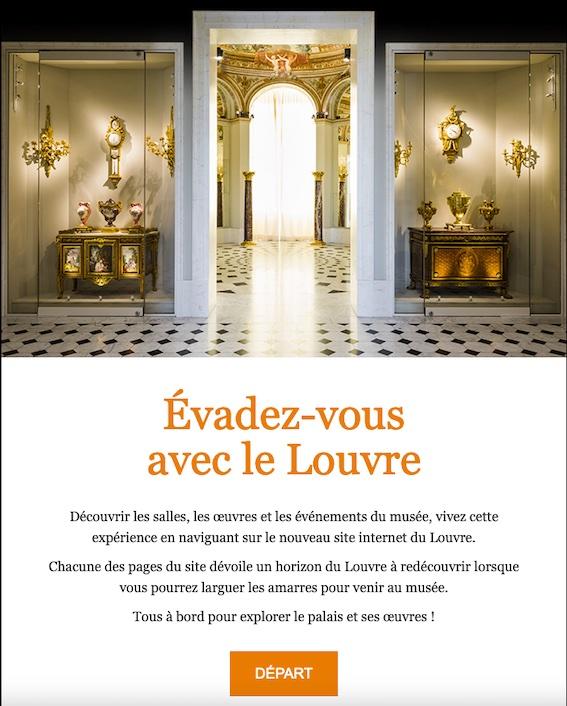 Cliquez sur l'image pour visiter les trésors du Louvre