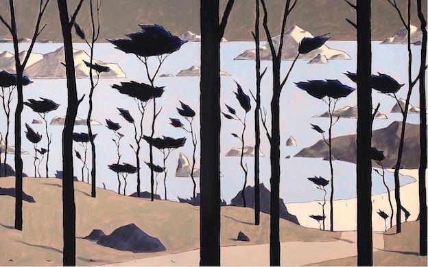 François Avril, January III, 2020 Acrylique sur toile, 81 x 130 cm