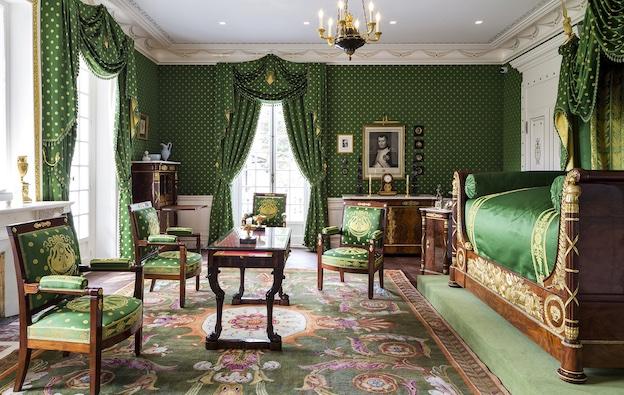 Martin Guillaume Biennais (1764-1843) Chambre à coucher, ensemble mobilier de la maison Caillebotte à Yerres, Ville de Yerres © Sébastien Erras