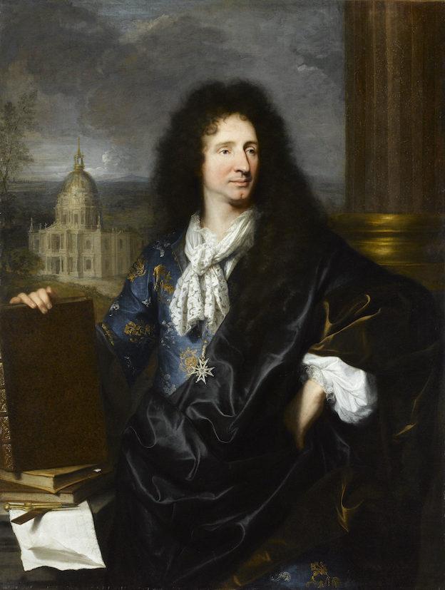 Portrait de Jules Hardouin Mansart Hyacinthe Rigaud  1685 Huile sur toile  © RMN-GP (musée du Louvre) / S.Maréchalle