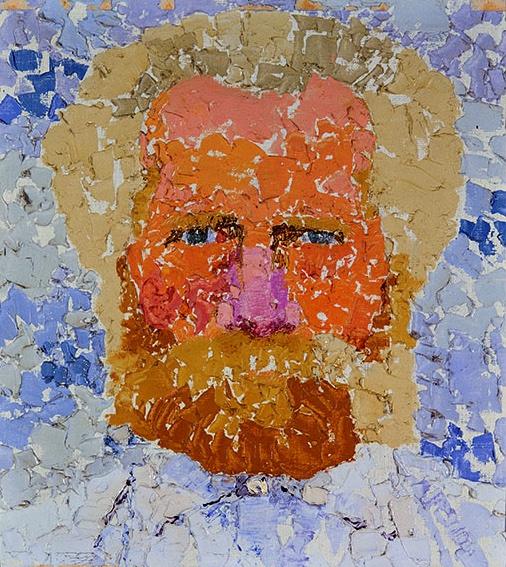 Augusto Giacometti, Mein Vater (Mon père), 1912. Huile sur toile, 36,5 x 32,5 cm. Collection Particulière. Photo Bündner Kunstmuseum Chur