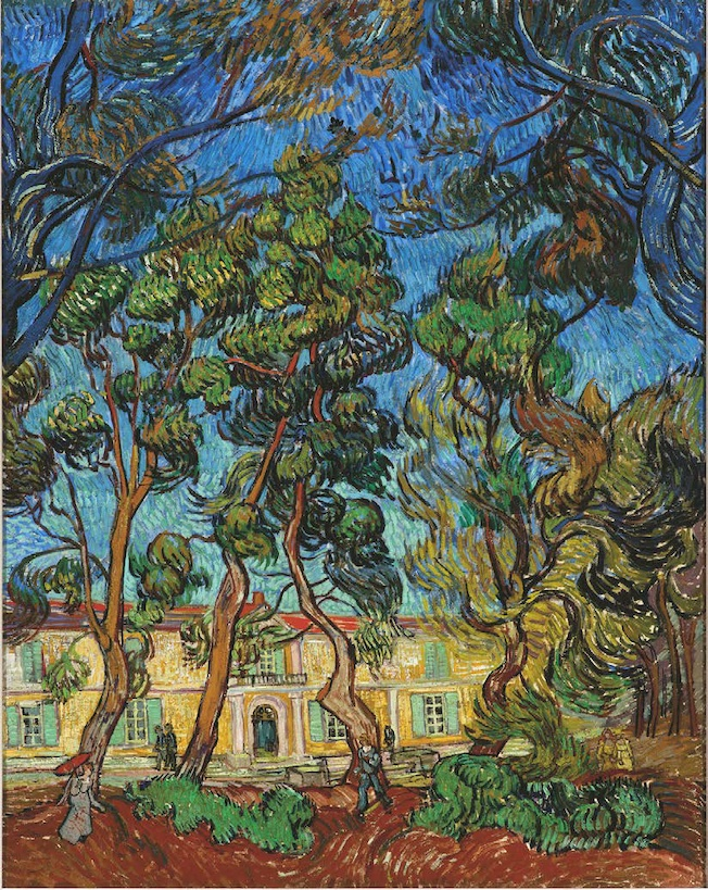Vincent Van Gogh, hôpital à Saint-Rémy, octobre 1889. Huile sur toile, 92,2 x 73,4 cm. Collection A. Hammer, Hammer Museum of Art, Los Angeles © The A. Hammer Collection