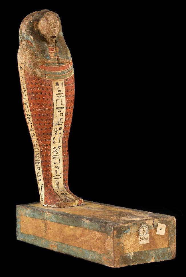 Statuette du dieu Ptah-Sokar-Osiris, Basse Époque (664-332 av. J.-C.), bois peint. © Musée du Louvre, Dist. RMN-Grand Palais / Georges Poncet