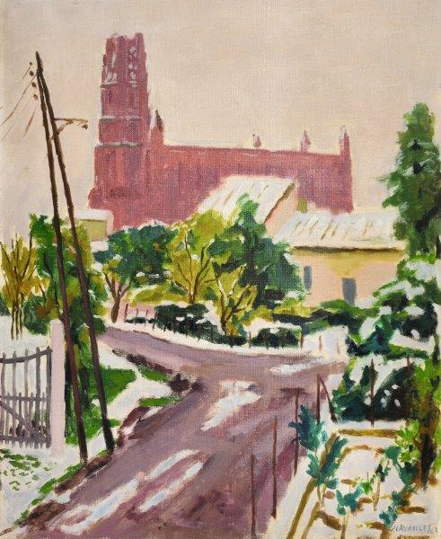 Jules CAVAILLES, Albi sous la neige, 1943