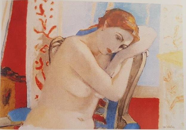 Maurice BRIANCHON - Nu accoudé, 1948