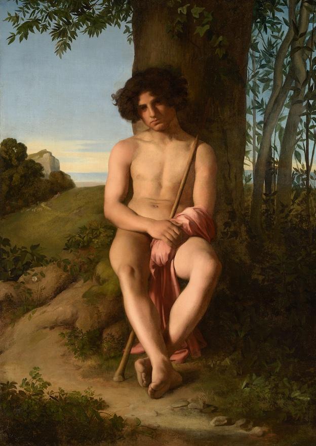 Hippolyte Flandrin, Jeune Berger 1834-1835, huile sur toile Lyon, musée des Beaux-Arts Image © Lyon MBA – Photo Alain Basset