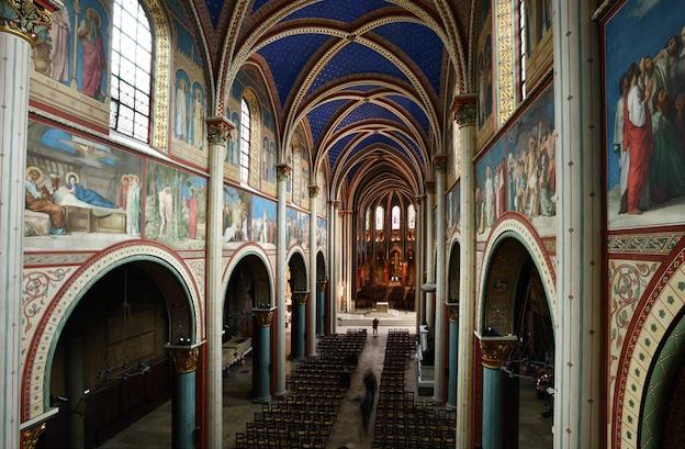 Vue intérieure de l'église Saint-Germain-des-Prés. Photo © Ville de Paris, COARC / Claire Pignol