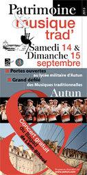 Concert gratuit du Bagad de Lann Bihoué à Autun (Bourgogne), le 14 septembre 2013