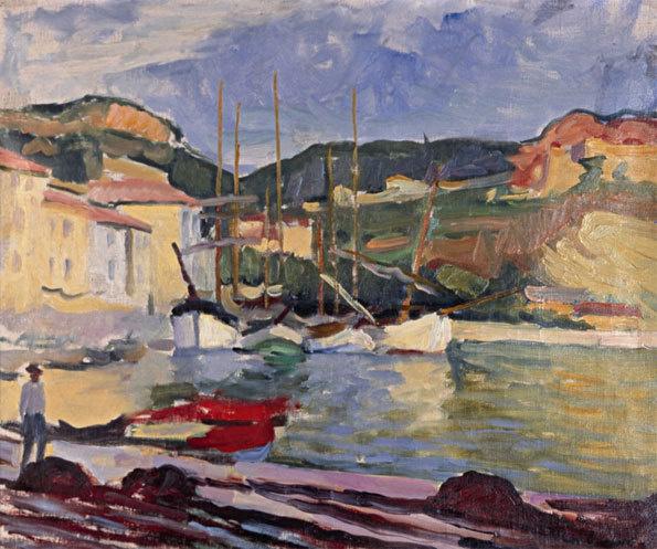Charles Camoin, Port de Cassis, huile sur toile 38 x 54 cm, Collection Fondation Bemberg (crédit: Fondation Bemberg)