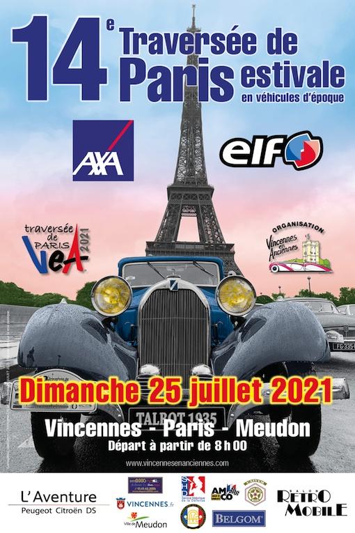 25 juillet 2021, 14e Traversée de Paris estivale en véhicules d'époque : faites place !