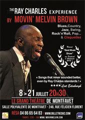 Avignon, festival Off, The RAY CHARLES Experience au Grand Théâtre de Montfavet du 8 au 21 Juillet 2013 à 20h30