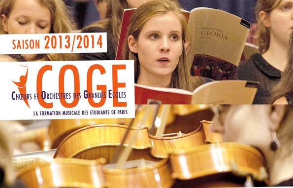 Le COGE Choeurs Orchestres Grandes Ecoles recrute en 2013 !