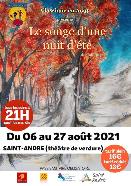 Saint-André (66 690), « Le songe d'une nuit d'été » de Shakespeare du 6 au 27 août 2021