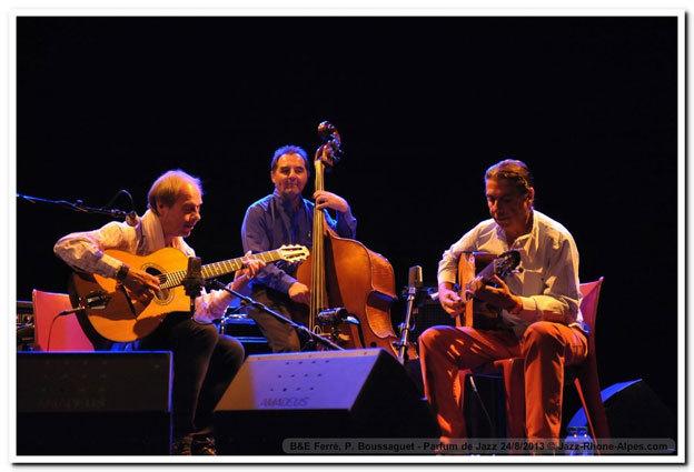 Boulou, Elios Ferré et Pierre Boussaguet © Jazz Rhône-Alpes