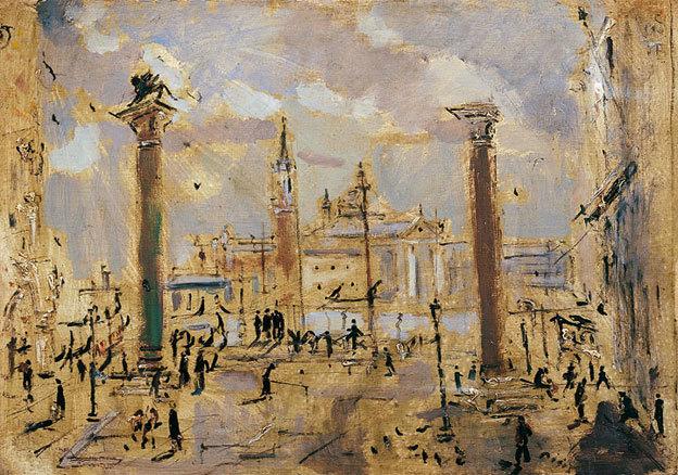 Filippo-de-Pisis-Venezia-Piazzetta-San-Marco-1947-Olio-su-tela-cm-69,5-x-99,3