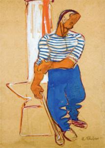 Auguste Chabaud. Dessins sur papiers de boucherie. Musée Arts et Histoire, Bormes-les-Mimosas, jusqu'au 17 octobre 2013