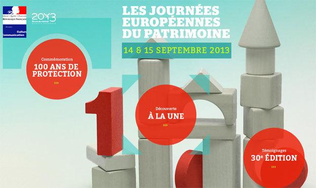 Journées européennes du patrimoine, « 1913-2013 : cent ans de protection », du 14 et 15 septembre 2013