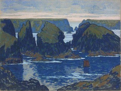 Belle-Île-en-Mer, Goulphar, 1895-1896 Gouache sur carton, 51 x 67,5 cm, Musée de Pont- Aven