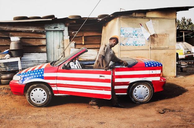 Nyaba Ouédraogo. Américain du Congo. 90 X 75, 2014