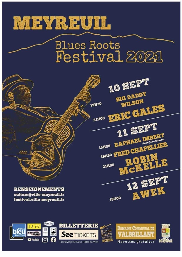 Blues Roots Festival à Meyreuil (13) du 10 au 12 Septembre 2021