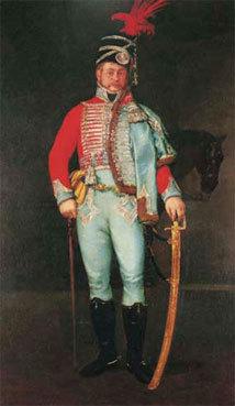 Francisco de Goya Portrait de Pantaleón Pérez de Nenín 1808 Huile sur toile 206 x 125 cm Signée et datée dans le coin inférieur droit sur le sabre Collection B.B.V.A.