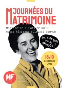 7e Edition des Journées du Matrimoine les 18 et 19 septembre