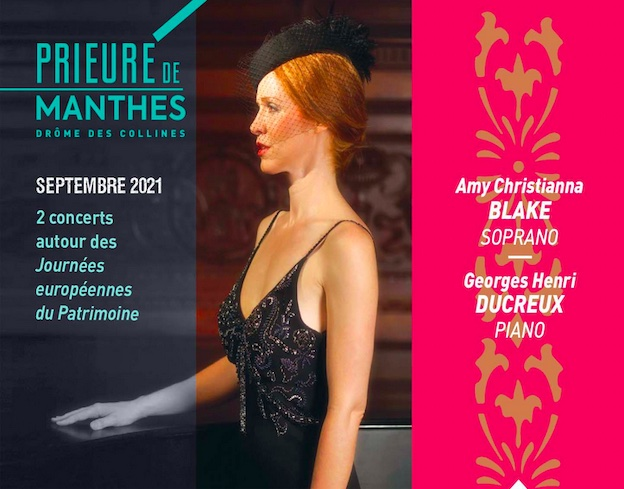 Prieuré de Manthes, Drôme : Airs d'opéra et musique sacrée, concert le 12/09/2021