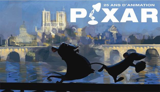 PIXAR, 25 ans d'animation, exposition à l'ART LUDIQUE-Le Musée, Paris, du 16 novembre 2013 au 2 mars 2014
