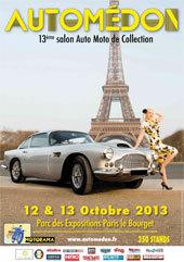 13e Salon Automédon - Voitures et Motos de collection les 12 et 13 octobre au Parc des Expositions Paris-Le Bourget (93)