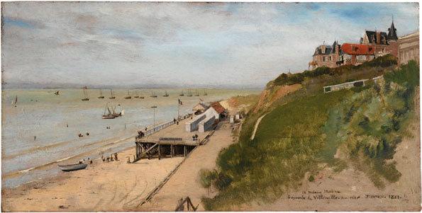 La plage de Paramé, 1892, huile sur toile, 84 x 103 cm, collection particulière © DR