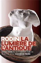 Exposition Rodin, la lumière de l'antique, musée rodin, Paris, du 19 novembre au 16 février 2014