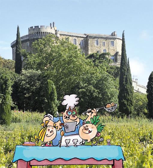 Histoire(s) de goûts au château de Suze-la-Rousse (Drôme) dans le cadre de la semaine du goût, samedi 19 et dimanche 20 octobre à partir de 14h