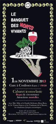 Banquet des morts vivants à La Gare à Coulisses, Eurre (Drôme), le 1er novembre 2013