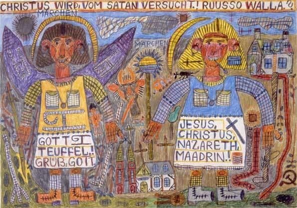August Walla, Christus wird vom Satan versucht