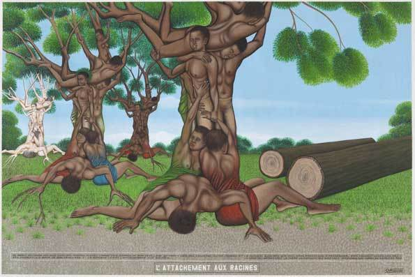 Chéri Samba, L'attachement aux racines