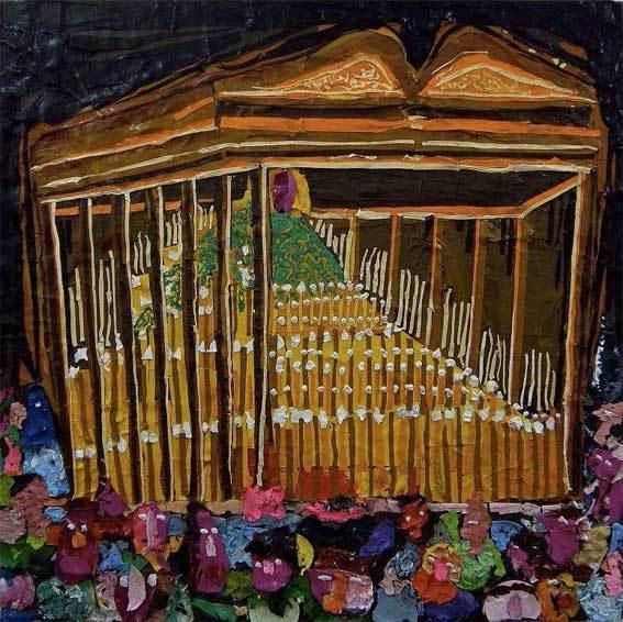 Hervé di Rosa. Paso grande, 2013 Acrylique sur bois 101,5 x 101,5 x 7,5 cm
